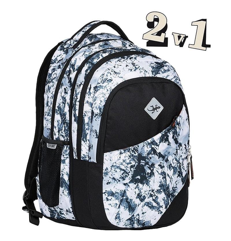 EMIPO SHOP - Studentský batoh 2v1 DANIEL Snow - 2v1 - Studentské ... 3e66857d2a
