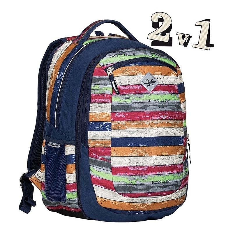7c2ce7e464e EMIPO SHOP - Studentský batoh 2v1 VIKI Melange - 2v1 - Studentské ...