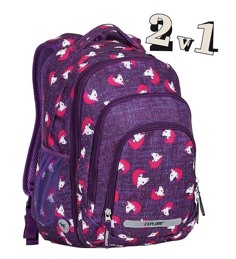 c7e22a0c679 EMIPO SHOP - Školní batoh 2v1 BAR Horses - 2v1 - Školní batohy ...
