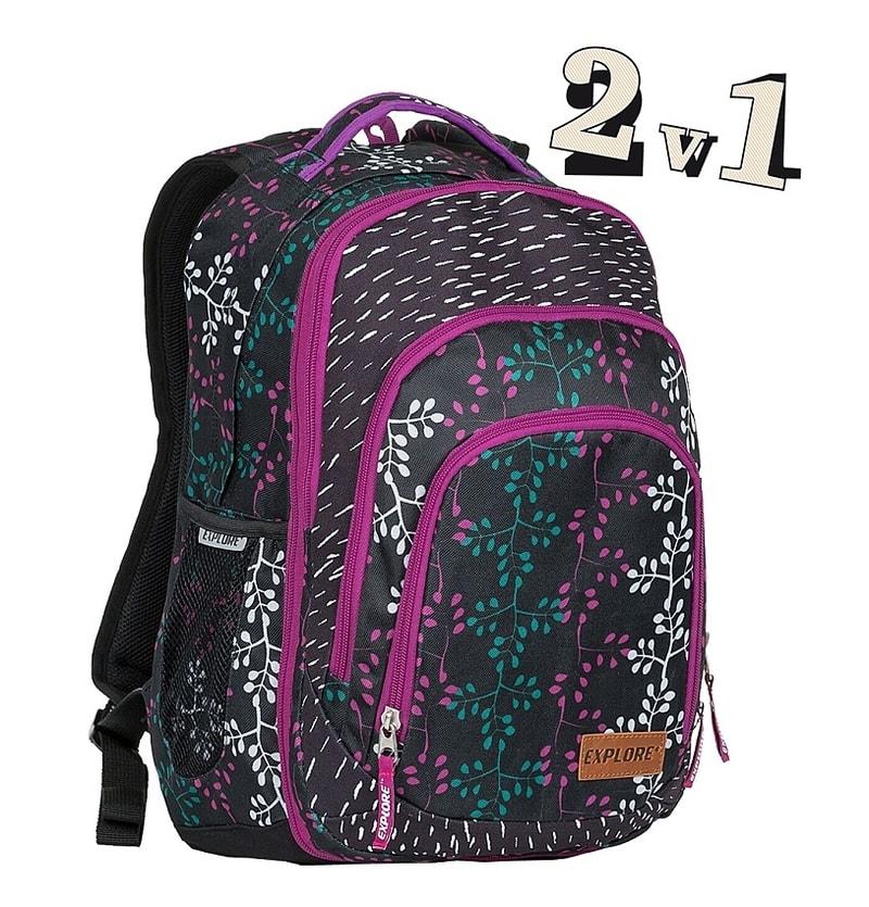 63f4675d00f EMIPO SHOP - Školní batoh 2v1 BAR Vine - 2v1 - Školní batohy ...
