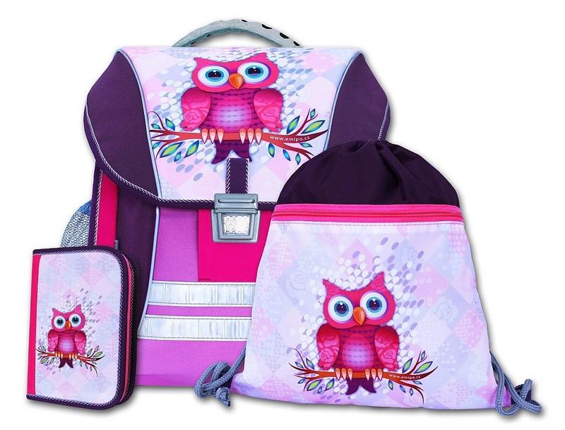 Školní batohový set Sova 3-dílný